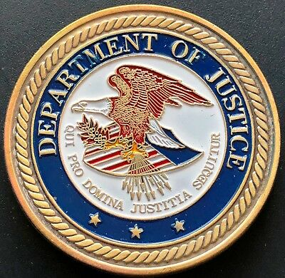 Department of Justice Coloured Novelty Coin - Saint Michael - Law Enforcement