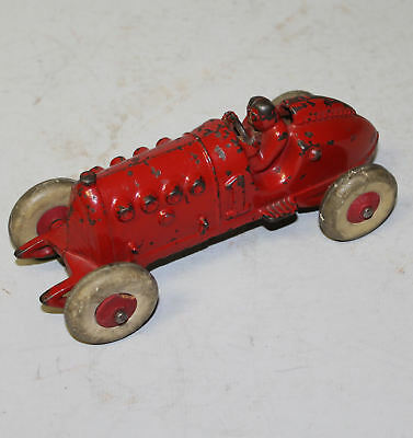 Antique Cast Iron Toy Racer Car – 8 inches length - Hubley