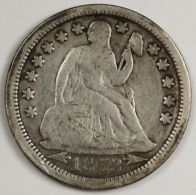 1853-o Liberty Seated Dime.  With Arrows.  Fine.  119431