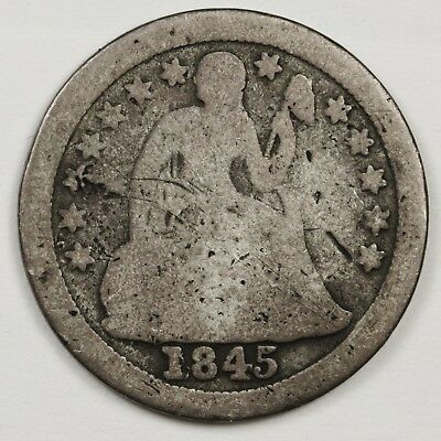 1845-o Liberty Seated Dime.  Good.  122200