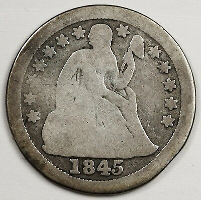 1845-o Liberty Seated Dime.  Good.  122201