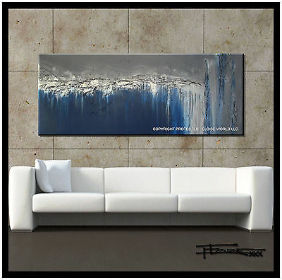 ABSTRACT PAINTING Modern Canvas WALL ART Large, Framed, USA ELOISExxx