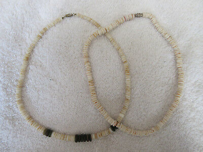 Two Very Nice Heishi Bead Necklaces--Nr!