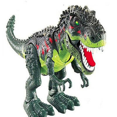 Light Up T-Rex Walking Dinosaur Kids LED Toy Figure With Sounds Real Movement D