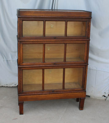 Antique Mission Oak Bookcase Stacking unit – Macey - 3 High Sectional