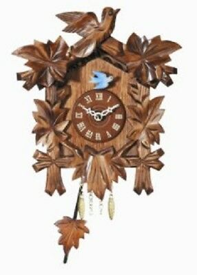 Pendulum Quartz Movement Wooden German Clock with Sound Made in Germany