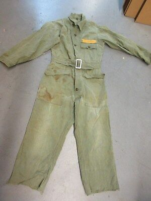 Us Army Ww2 Korean War Hbt Coveralls Size Small