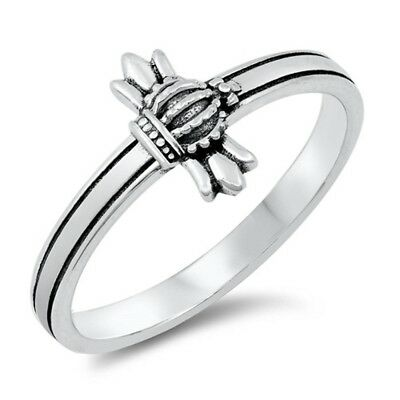 Plain Medieval Crown .925 Sterling Silver Ring Sizes 4-10