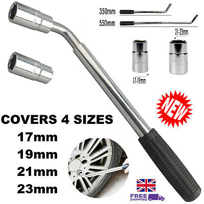 Telescopic Lug Wrench 4 Sizes Wheel Brace Socket 17/19/21/23MM Spare Tire Kit UK