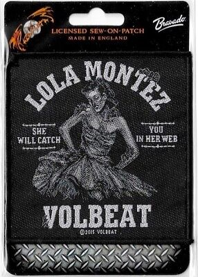 Official Licensed Merch Woven Sew-on PATCH Heavy Metal VOLBEAT Lola Montez