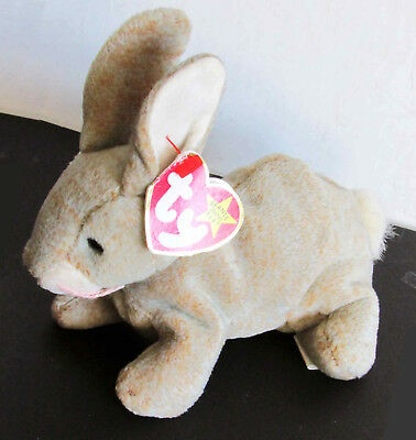 "TY ORIGINAL BEANIE BABY 1998 99 Nibbly The Rabbit with TAG 6"" Bunny FREE SH"