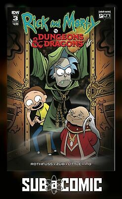RICK & MORTY VS DUNGEONS & DRAGONS #3 COVER A LITTLE (IDW 2018 1st Print) COMIC