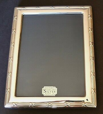 "Carr's Of Sheffield Sterling Silver Picture Frame 8 3/4"" X 6 3/4"" Hallmark 1994"