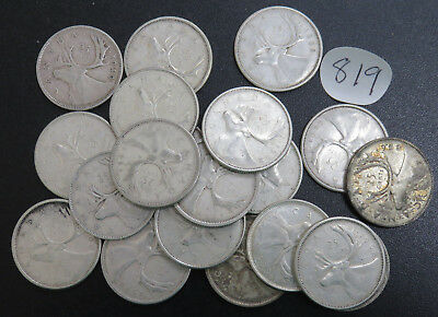 $5.00 Face Value 80% Silver Canadian Quarters