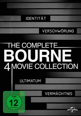 The Complete Bourne 4 Movie Collection (2013) Teil 1, 2, 3, 4 - 4 DVD BOX NEU
