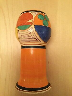 CLARICE CLIFF Art Deco vase Melon/Picasso Excellent condition
