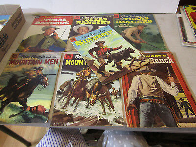DELL 10c COWBOY COMICS - LOT OF 7 FROM 1950s BOWIE SHORT BRAND PEARSON