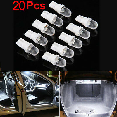 20X T10 W5W White LED Bulbs Lot Side Car Wedge Light Lamp 12V 5W 194 168 158 501