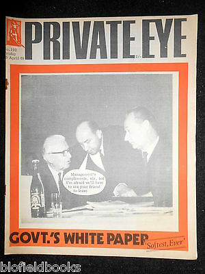 PRIVATE EYE - Vintage Satirical Political News Humour Magazine - 25th April 1969