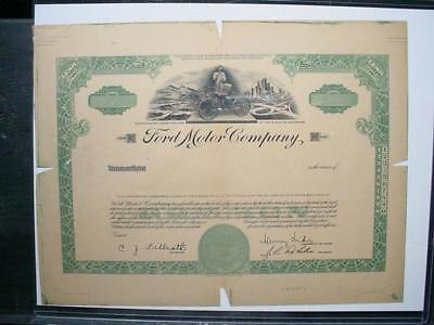 NobleSpirit NO RESERVE (3970) Genuine Proof Ford Motor Company Stock Certificate
