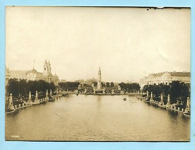 Orig 4x6 Official Photo * 1904 St Louis World's Fair LAGOON from FESTIVAL HALL
