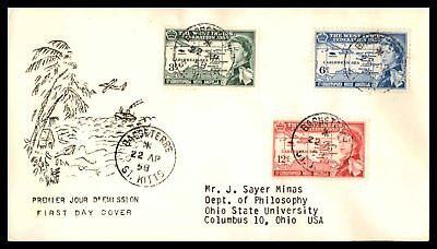 Basseterre St Kitts West Indies Federation Combination 1958 Cachet On Sealed Fdc