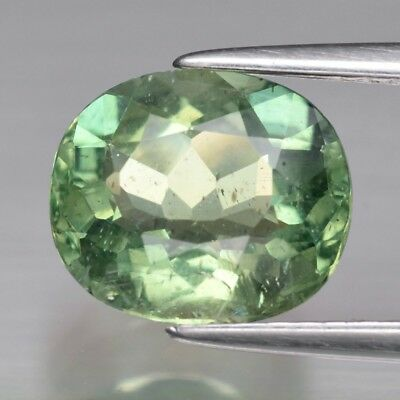 2.42ct 9x7.8mm Oval Natural Unheated Green Apatite, Brazil