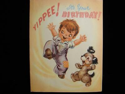 "Vintage ""yippee!! Have A Grand Birthday!!"" Birthday Greeting Card"
