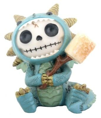 Furrybones Figurine -  Scorchie The Dragon - Skeleton Skull In Costume === New