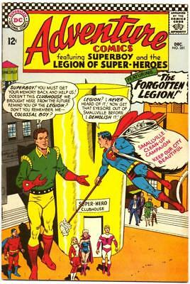 Adventure Comics 351 Superboy Legion Super-Heroes 1St White Witch Dc Silver Bin