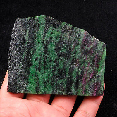 581.7Ct 100% Natural Red Green Bi Color Ruby In Zoisite Rough Specimen YGB86