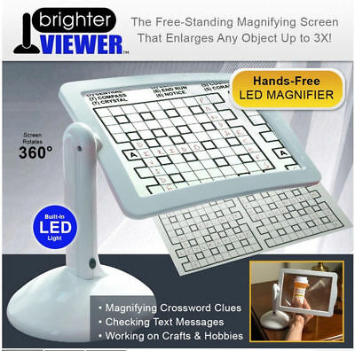 Reading Brighter Viewer LED Magnifier Extra Large Screen Magnifier With Light