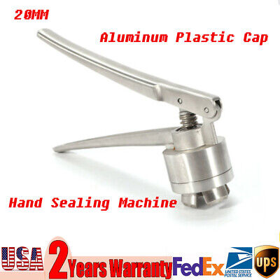 Silver 20mm Hand Crimper Flip Off Caps Pliers Sealing Machine Stainless Steel US