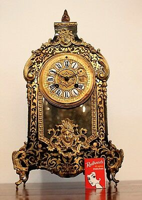 19th CENTURY FRENCH BOULLE CLOCK FOR RESTORATION. AS PURCHASED IN FRANCE.