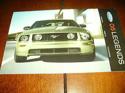 2005 Ford Mustang Ford Gt Supercar Thunderbird  ***factory / Dealer Brochure***