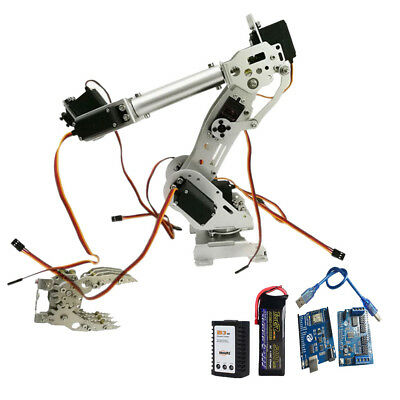 WIFI Metal 8 DOF Robot Arm Gripper Claw Kit High Torque Servo Silver