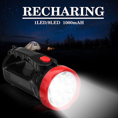 Waterproof USB Rechargeable Torch 1/9 LED Candle Power Flashlight Hand Lamp