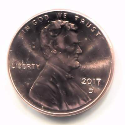 U.S. 2017 D Lincoln Shield Penny - Uncirculated One Cent Coin