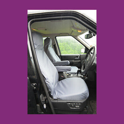 Land Rover Discovery 3/4 Grey Tailored Waterproof Front Pair Seat Covers WA