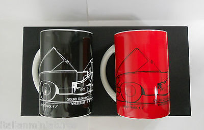 Jaguar E Type Technical Drawing Mug x 2 Official Product JHR 2696 New in box