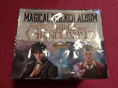 Box of Fantastic Beasts The Crimes of Grindelwald Stickers PANINI 50 packs
