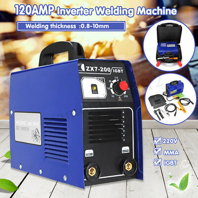 Portable ARC 120Amp Stick Welder DC Inverter MMA ZX7-200 Welding Machine IGBT