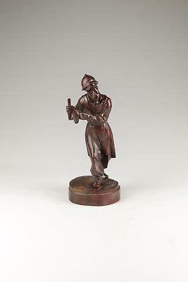 Large 19/20thC Late Qing Chinese Hardwood Carved Musician Sculpture Figure