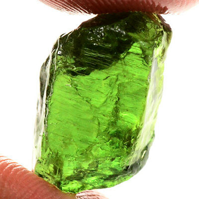 VERY NICE 16.80ct NATURAL100% UNHEATED GREEN APATITE ROUGH SPECIMEN FACET NR!