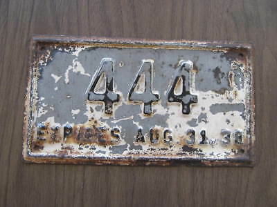 1938  Rhode Island Fisheries  License Plate