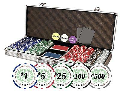 Da Vinci Professional Casino Del Sol Poker Chips Set with Case and 500 chips