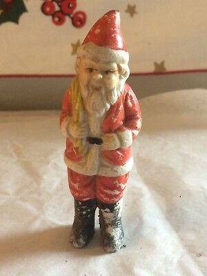 1930's Bisque Santa Claus W/sack Figurine Japan