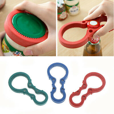 Multi Handy Non Slip Grip Twist Container Bottle Opener Jar Lid Can Opener CSY