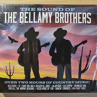 2CD NEW SEALED - THE SOUND OF THE BELLAMY BROTHERS - Country Pop Music CD Album