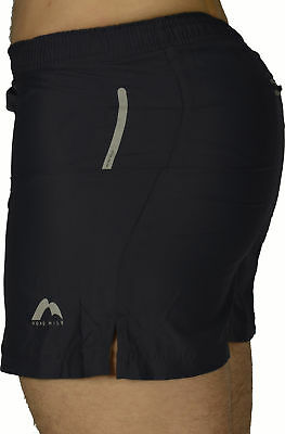 More Mile Square-Cut Womens Running Shorts Bekleidung Black